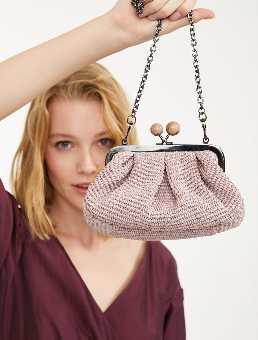 Pasticcino Bag Mini in rafia Weekend Maxmara