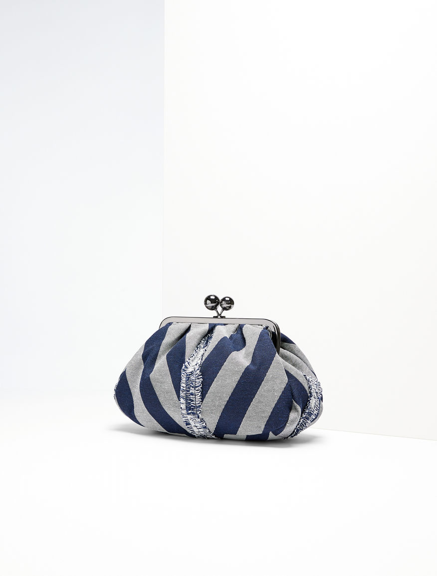 Pasticcino Bag Medium in tessuto chevron Weekend Maxmara