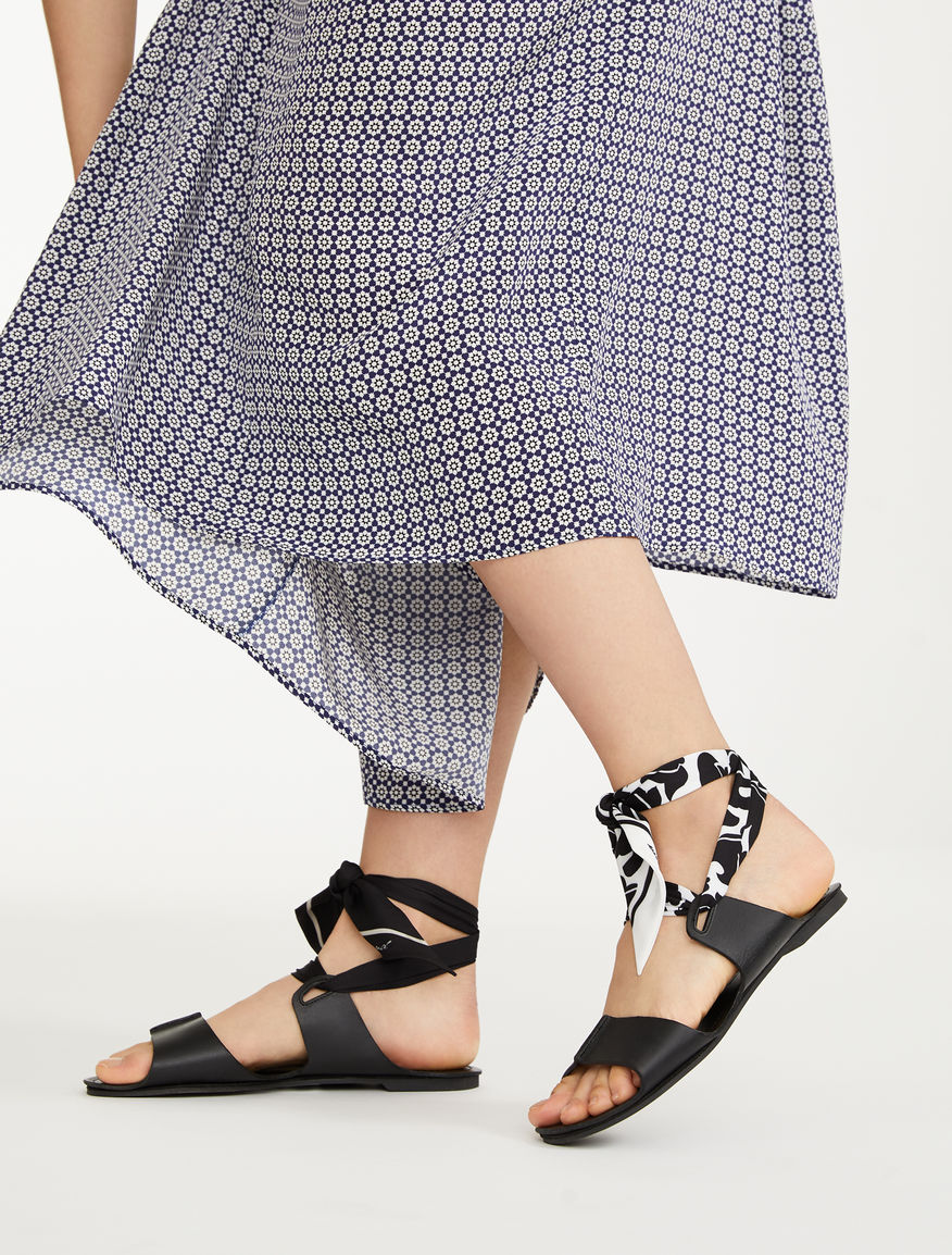 Flat leather sandals Weekend Maxmara