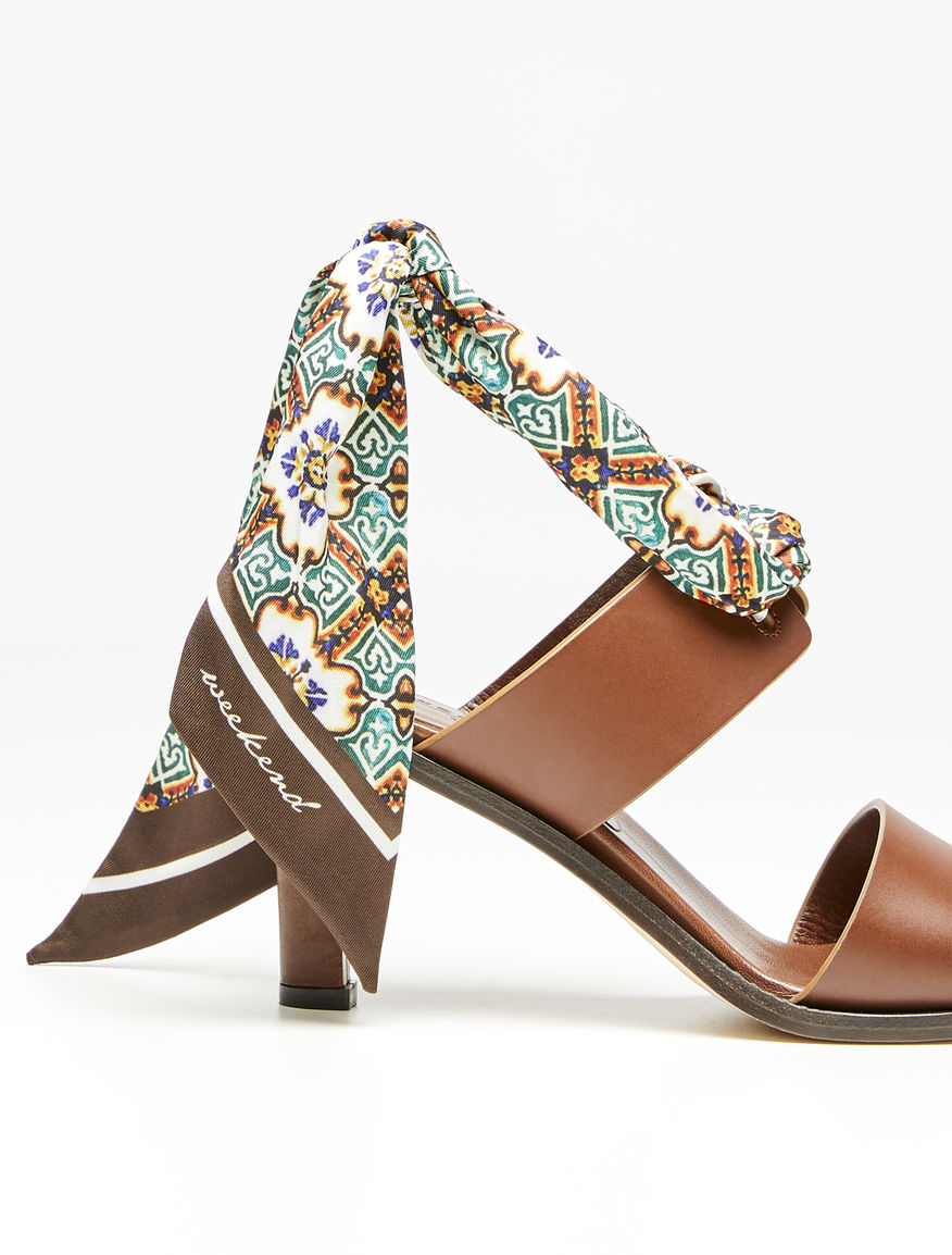Leather sandal with scarf Weekend Maxmara