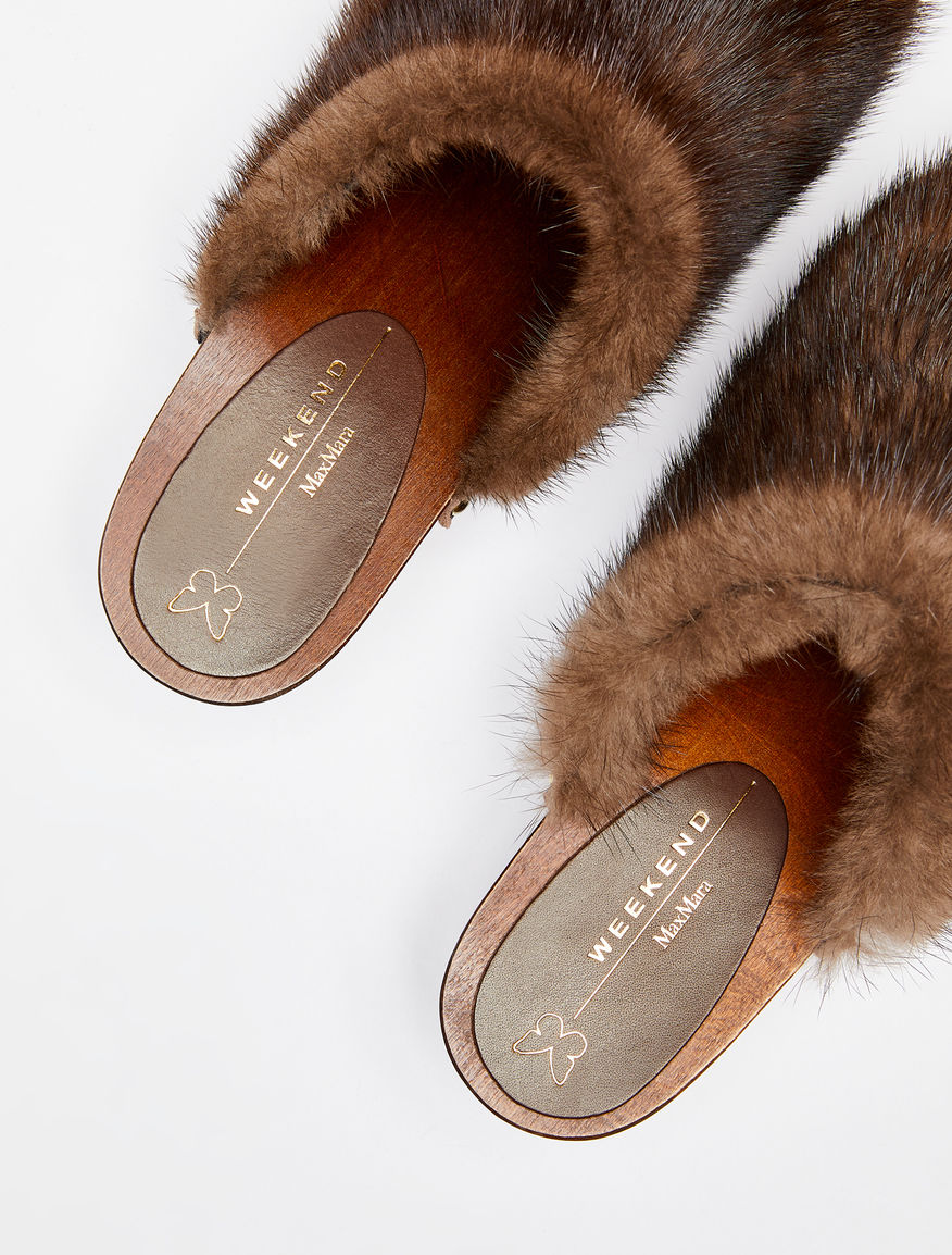 Mink fur mules Weekend Maxmara