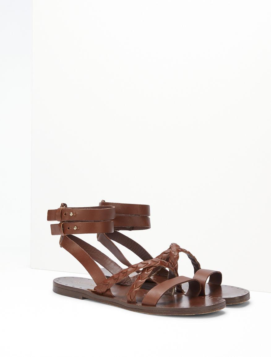 Sandalo flat in pelle Weekend Maxmara