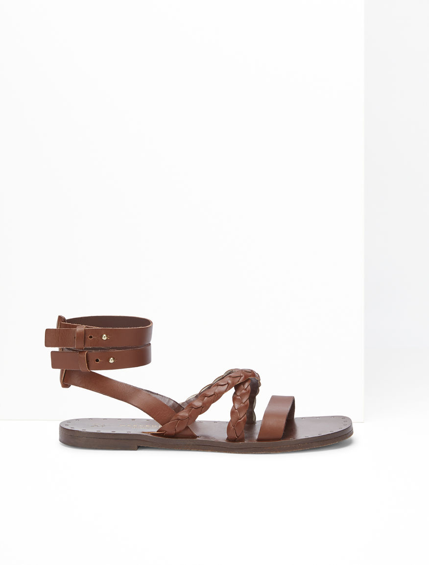 Sandalo flat in pelle Weekend Maxmara