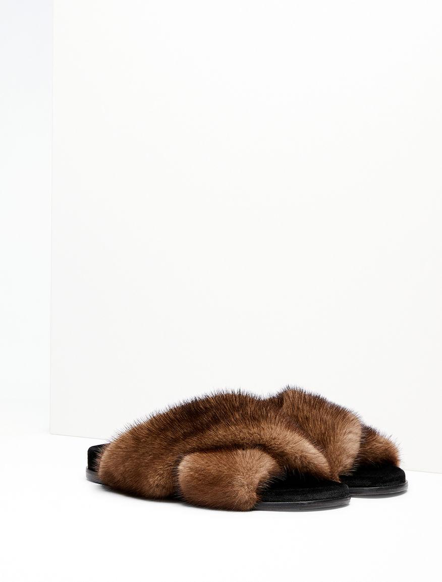 Sandalo in visone e velluto Weekend Maxmara