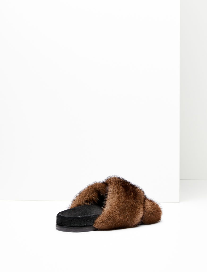 Mink and velvet sandals Weekend Maxmara
