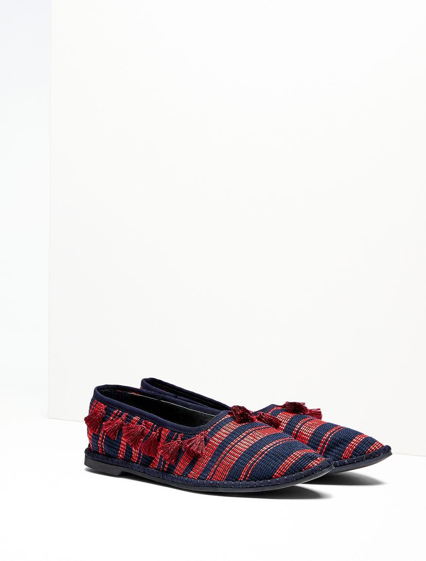 Jacquard fabric ballet flats Weekend Maxmara
