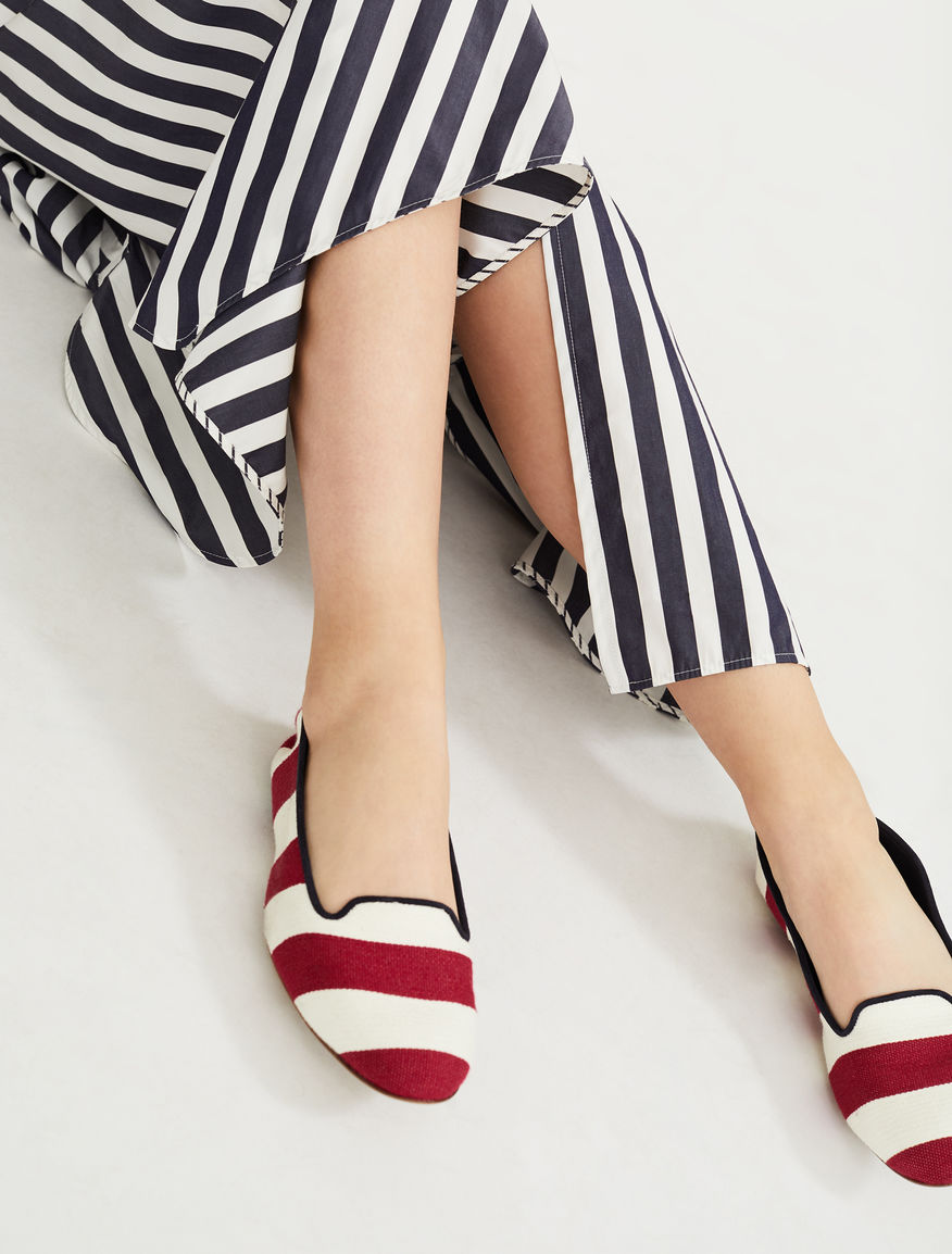 Striped fabric loafer Weekend Maxmara