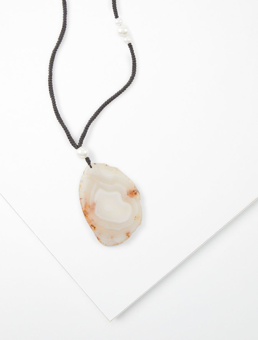 Necklace with agate pendant Weekend Maxmara