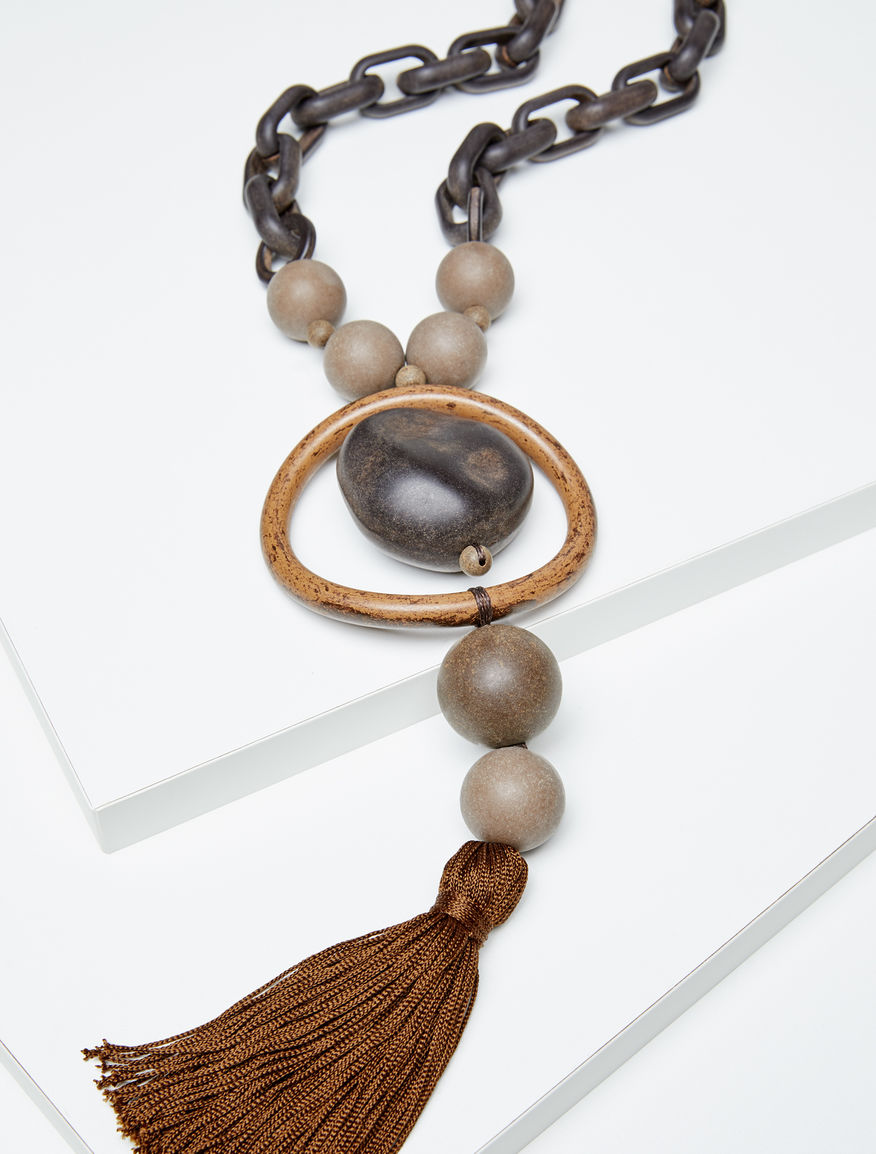 Resin tassel necklace Weekend Maxmara