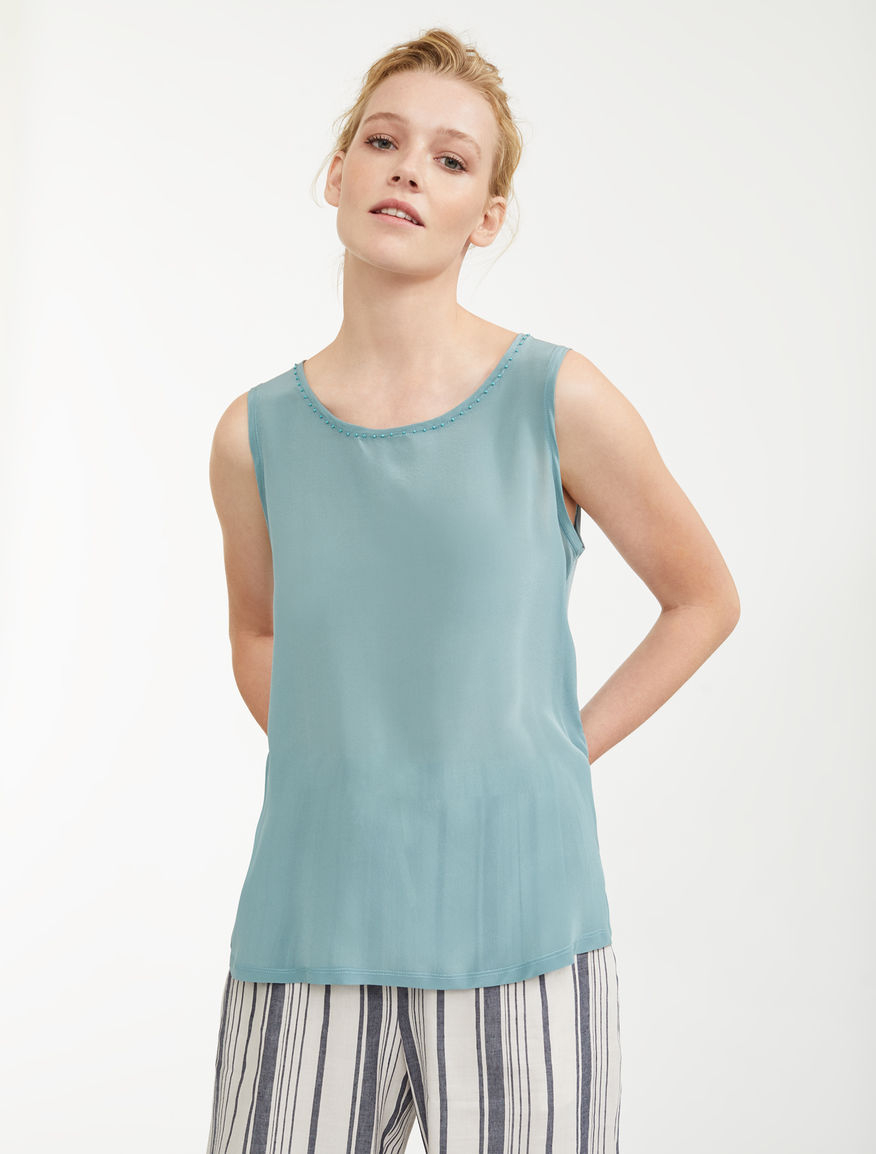 Top in seta e jersey di cotone Weekend Maxmara