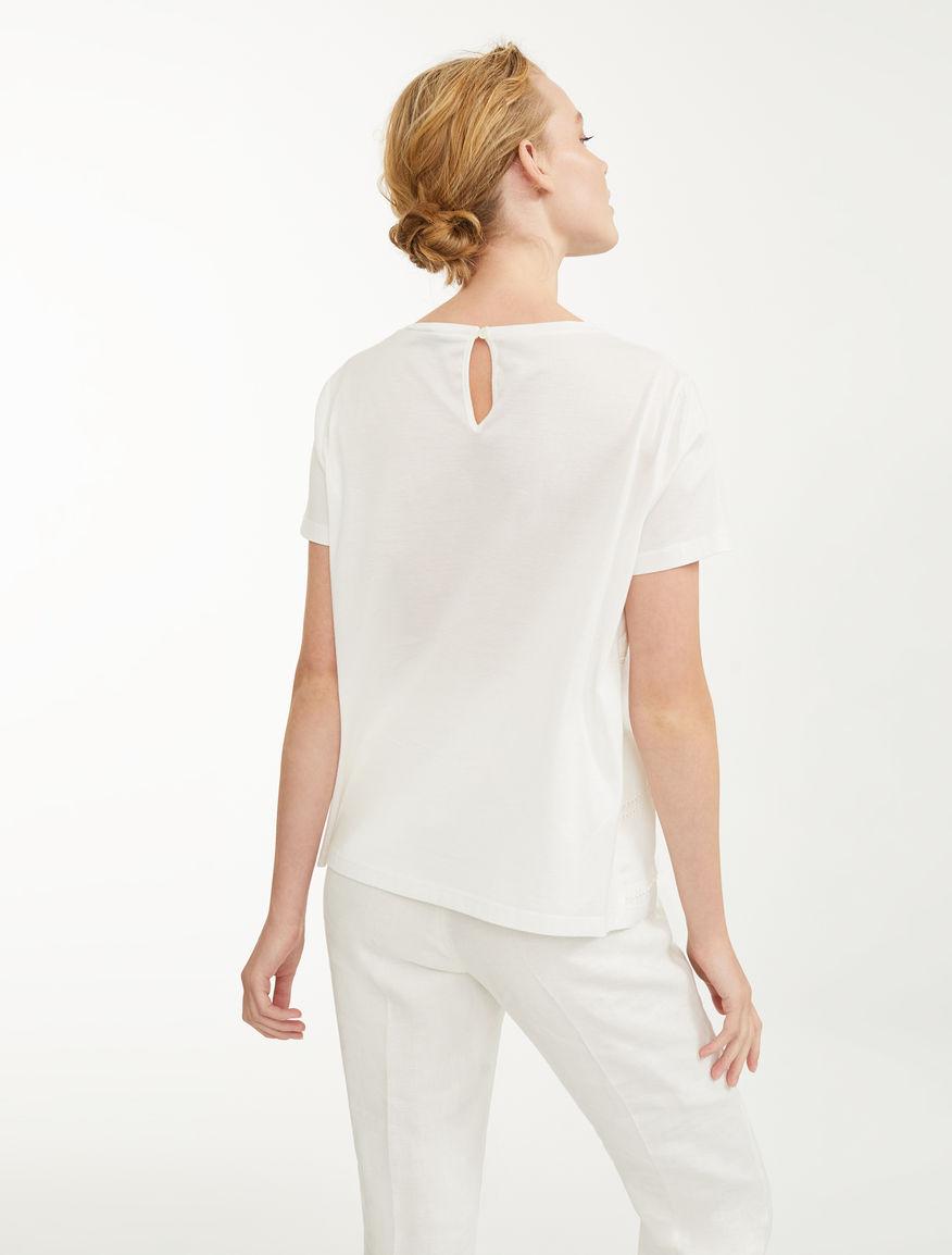 Embroidered linen T-shirt Weekend Maxmara