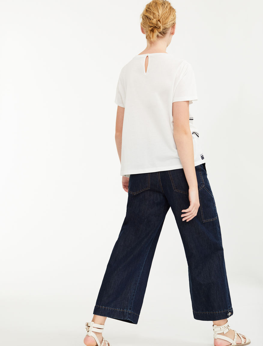Embroidered linen T-shirt Weekend Maxmara