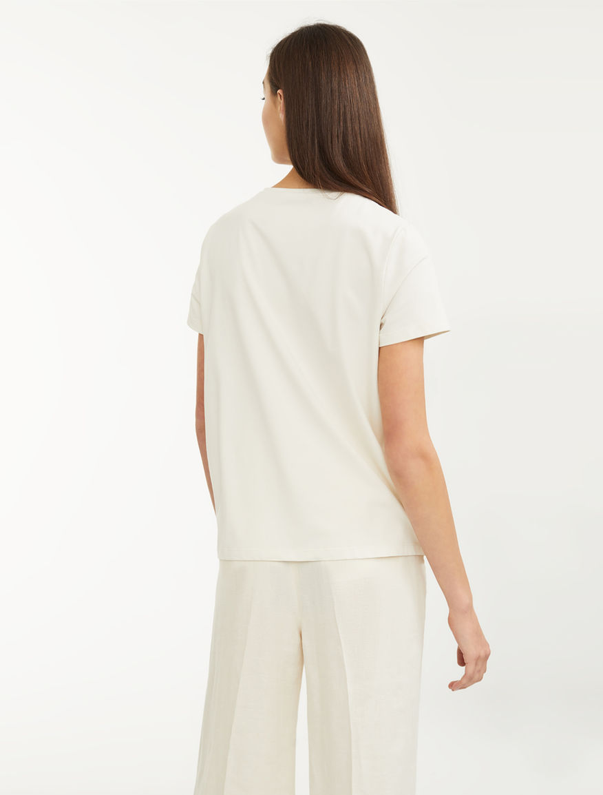 Cotton and linen T-shirt Weekend Maxmara