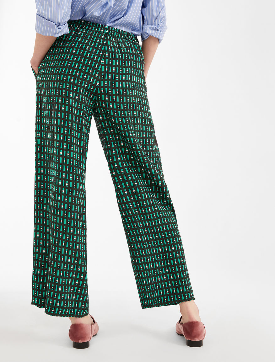 Silk crepe de chine trousers Weekend Maxmara