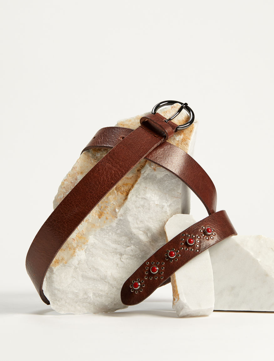 Leather belt with studs Weekend Maxmara