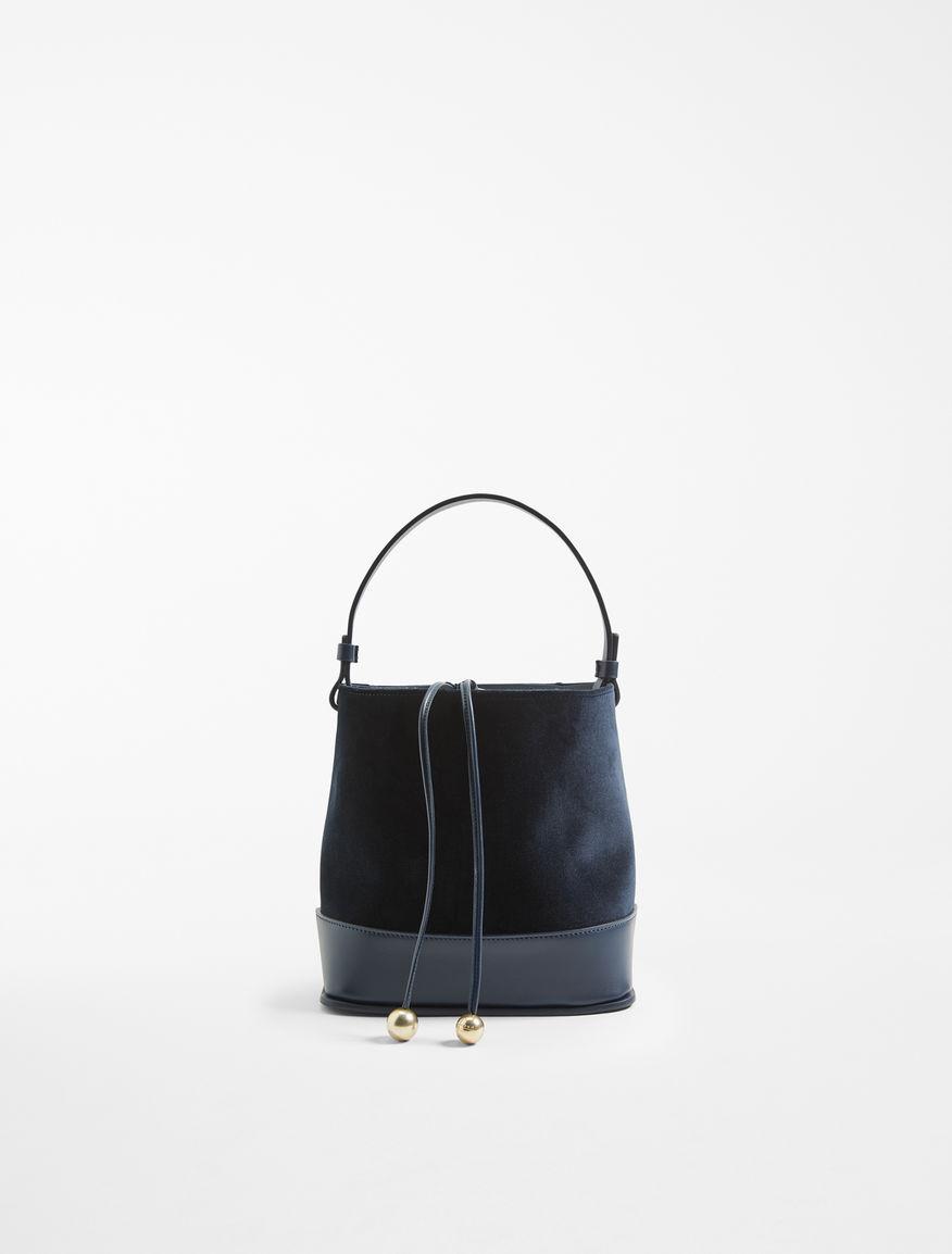 Velvet and leather shopper bag Weekend Maxmara