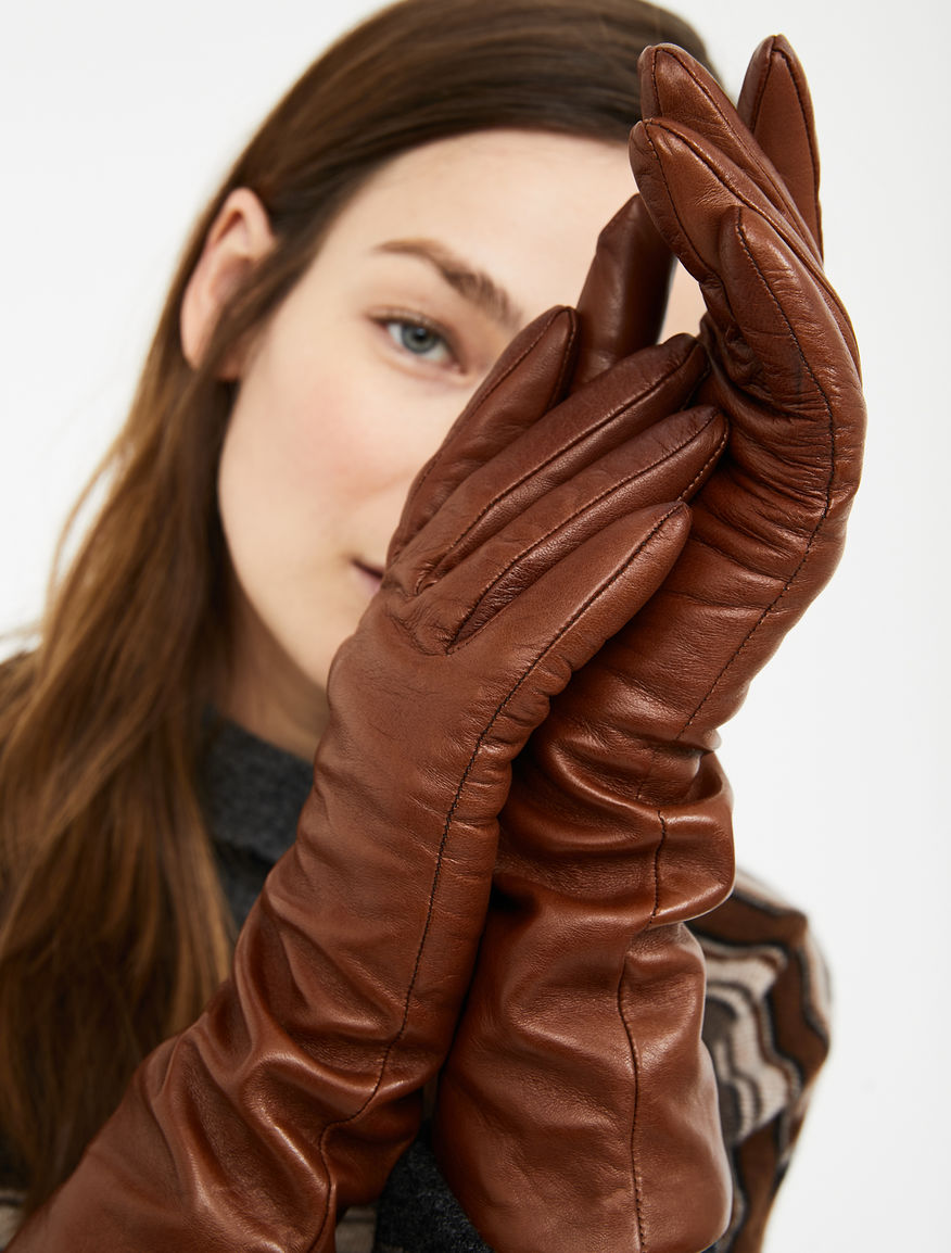 Semi-long nappa leather gloves Weekend Maxmara