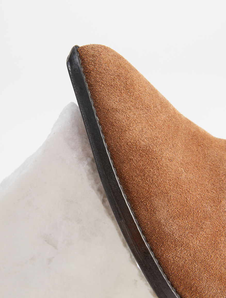 Suede leather low boot Weekend Maxmara