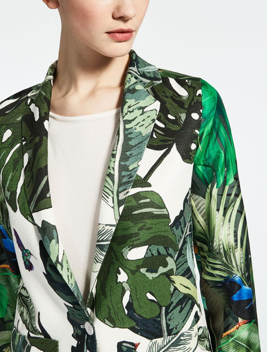 Linen and silk jacket