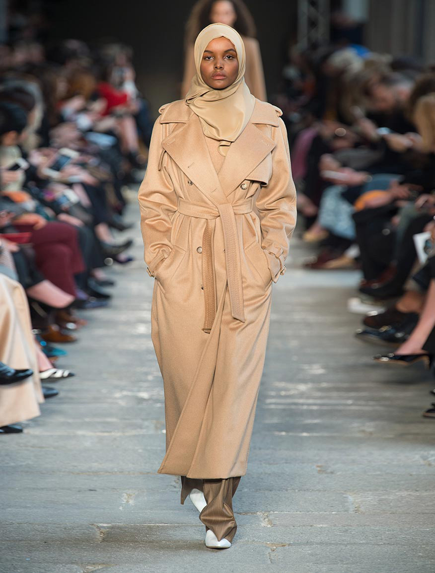 Drop-proof camel trench coat