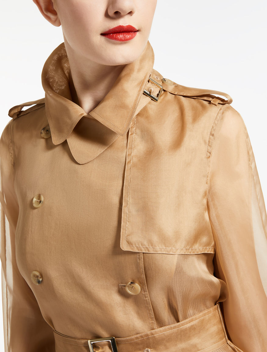 Trench in organza di seta