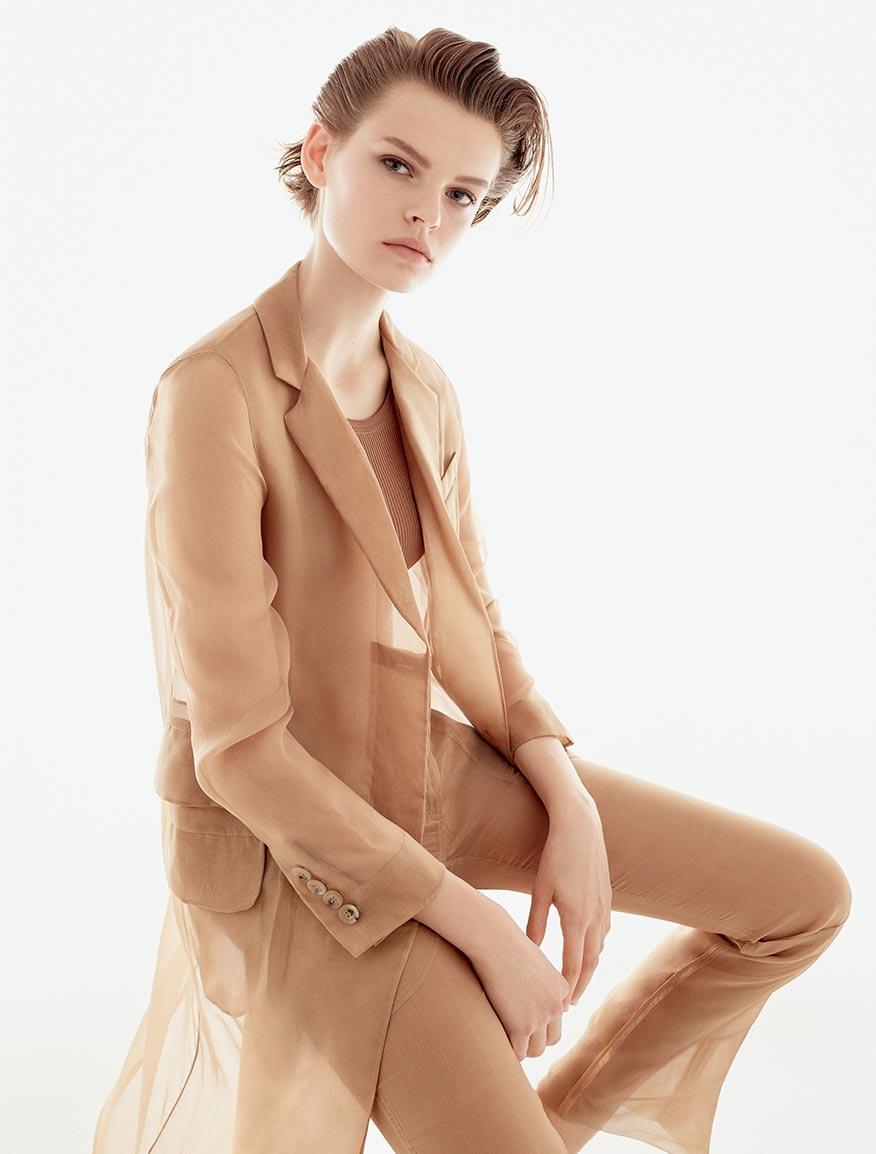 Manteau en organza de soie