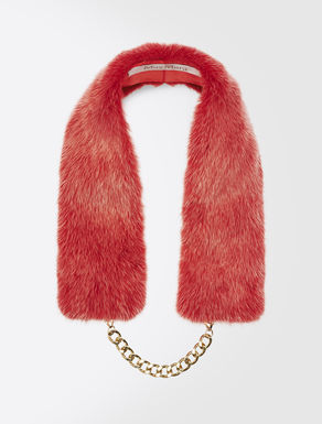 Mink collar trim