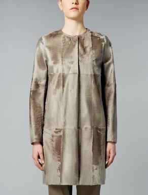 Lambskin fur coat